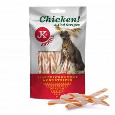 JK Animals | Jutalomfalat | Csirkehús és Tőkehal | 80g