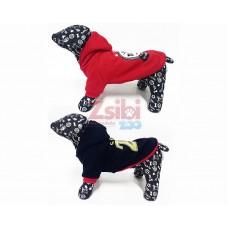 Kutyaruha | Kifordítható | Piros - Kék