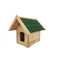 Kültéri Fa Kutyaház | Zsindely Tetővel | 1