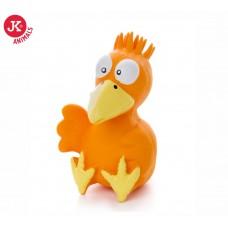 JK Animals | Kutyajáték | Narancssárga Madár | Sípolós | 13 cm