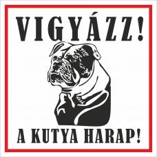 Kutyatábla | Angol bulldog | 12,5x12,5 cm