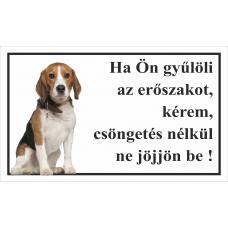 Kutyatábla | Beagle | 25x15 cm