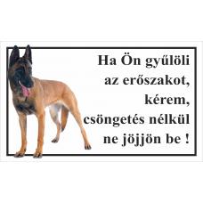 Kutyatábla | Belgajuhász | 25x15 cm