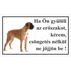 Kutyatábla | Boxer 2 | 25x15 cm