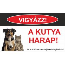 Kutyatábla | Kutya és Macska| 25x15 cm