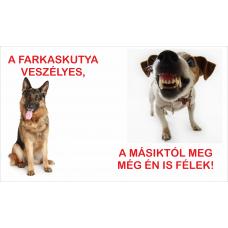 Kutyatábla | Németjuhász és Foxi | 25x15 cm